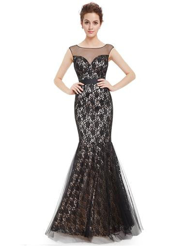 Elegant Lacey Fishtail Sexy Long Prom Dress