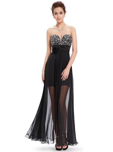 Beautiful Strapless formal/cocktail gown with intricate sequined detail on the bust