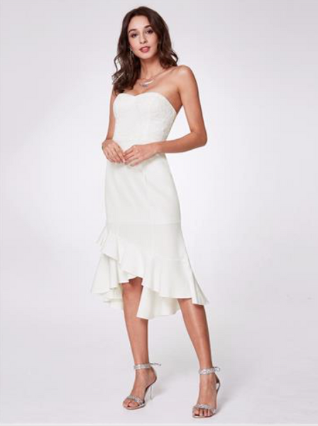 Elegant Strapless Women Party Dress