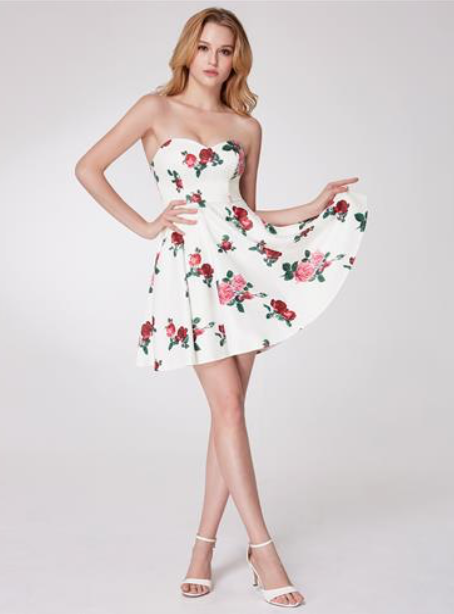 53b0a480fa10 Sexy Women's Floral Print Strapless Dress – U'i Tiki Fashion