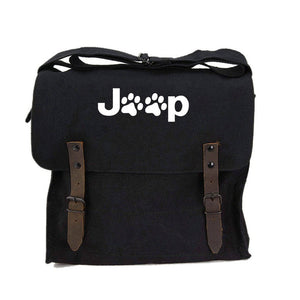 Jeep Paw Print Canvas Medic/Military/Vintage Shoulder Bag