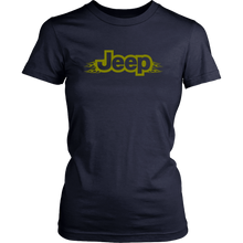 """Jeep Green Army Flames""- T-Shirt"