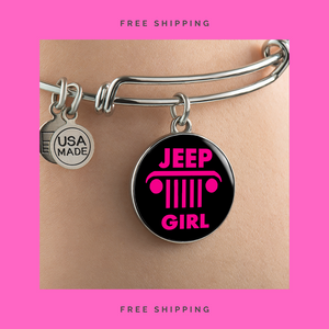 """Jeep Girl"" Circle - Bangle-Bracelet Adjustable"