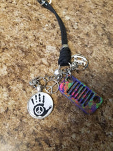 Jeep Rear View Mirror Bling - Peace, Love, Happiness = JEEP