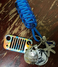 Life is Better at the Beach Jeep Grill Key Fob