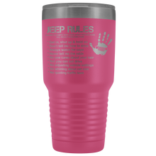 """Jeep Rules"" Travel Vacuum Tumbler For Jeep Fans"