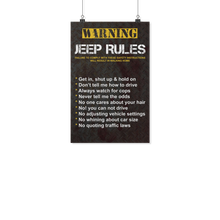 """Jeep Rules"" Poster"