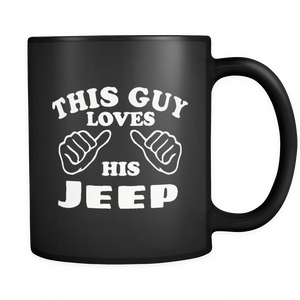 "Jeep Theme Mug - ""This Guy Loves His Jeep"""