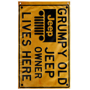 """Grumpy Old Jeep Owner"" Wall Flag"