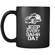 "Jeep Theme Mug - ""Jeep Every Damn Day"""