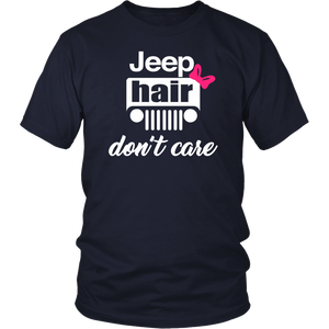 "Jeep Theme T-Shirt & Tank Top ""Jeep Hair Don't Care"""