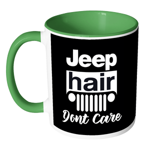 Jeep Hair Don't Care Accent Mug