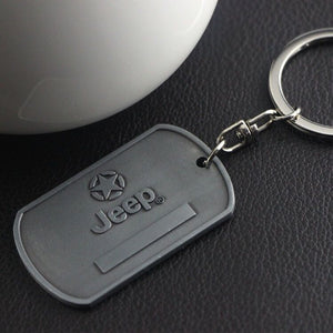 Stainless Steel Jeep Grill Keychain Metal Chrome