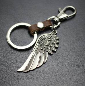 Leather KeyChain Angel Wings