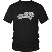 """Jeep Words Cloud"" T-Shirt"