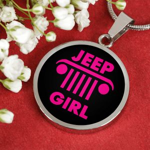 """Jeep Girl"" Circle - Necklace w/Adjustable Chain"