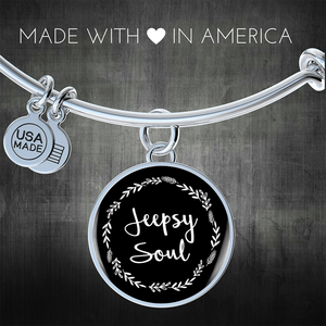 """Jeepsy Soul"" Circle - Bangle-Bracelet Adjustable"