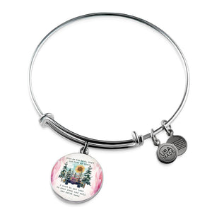 """Give Me The Beat, Boys & Free My Soul, Hippie Jeep Girl Quote"" - Circle - Bangle-Bracelet Adjustable"