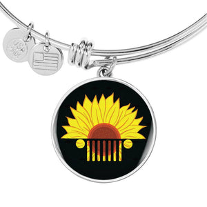 """Jeep Sunflower Decoration"" Circle - Bangle-Bracelet Adjustable."