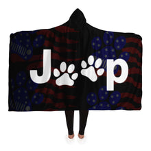 """Jeep Paw Print"" Hooded Blanket"