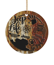 JeepLife Rustic Look Ornament