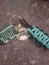 Jeep Grill Key Fob With Powder Coated Grill & Jeep Girls Tag With Jeep Wave Charm