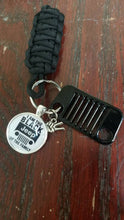 "Jeep key fob ""I am The Black Jeep of the Family"""
