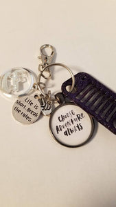 Choose Adventure Jeep Grill Key Fob