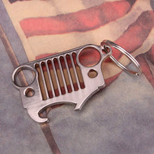 Jeep Grill Bottle Opener Key Chain -304 Stainless Steel
