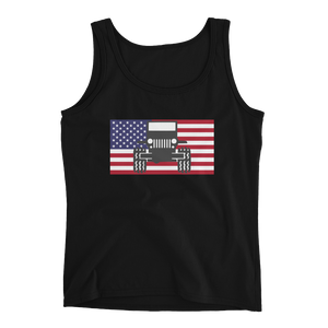 Jeep USA Flag Ladies' Tank
