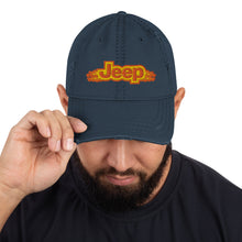 """Jeep Flames"" Distressed Dad Hat"