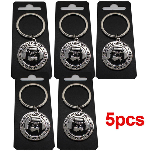 5pcs  of Key Chain for Jeep Enthusiasts -Key rings for Jeep