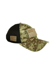 USA American US Flag Baseball Cap Army Tactical Mesh Military Camo Trucker Hat
