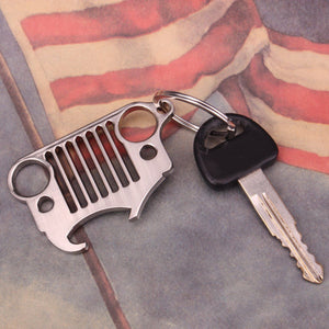 Keychain & Bottle Opener Front Grille Jeep