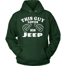 "Hoodie & Long Sleeve Tee - ""This Guy Loves His Jeep"""