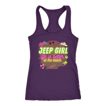 Jeep Girl Tank Top, Life Is Better At The Beach