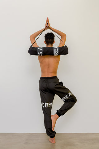 MIRZ x ANDREA CREWS BLACK YOGA SET