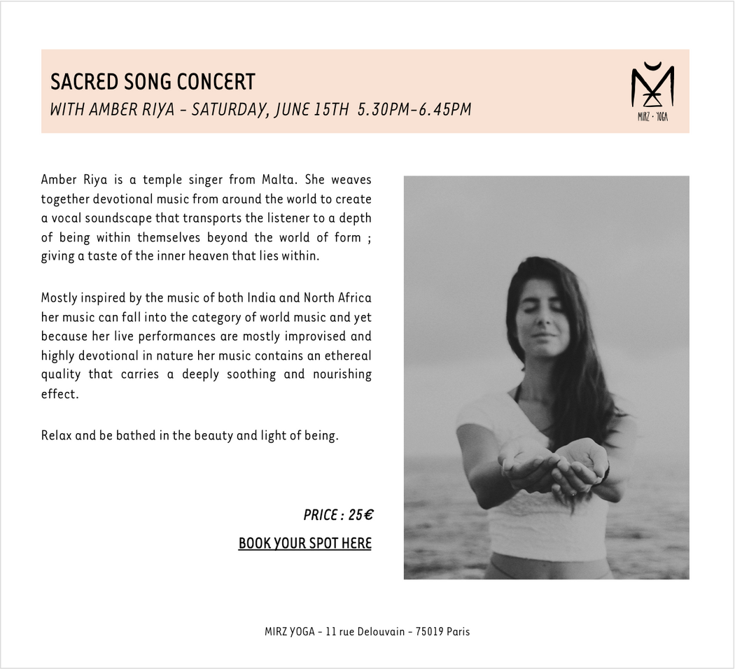15/06/19 - SACRED SONG CONCERT - 25€ (acompte de 12€50)