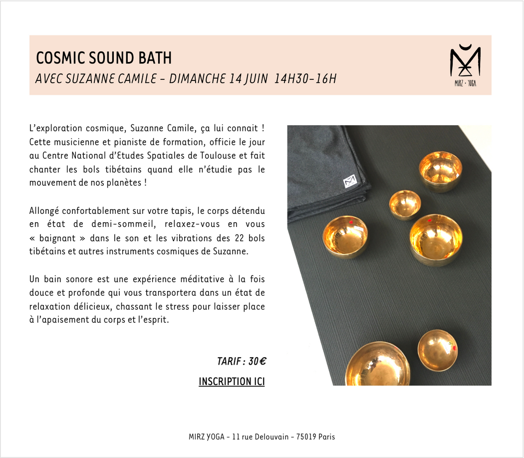 14/06/20 - COSMIC SOUND BATH - 30€ (acompte de 15€)