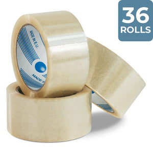 36 Rolls Packing Tape 48 mm x 75 m Clear Packing Tapes and Supplies Packstore Australia