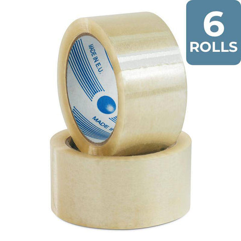 6 Rolls Packing Tape 48 mm x 75 m Clear - Packstore