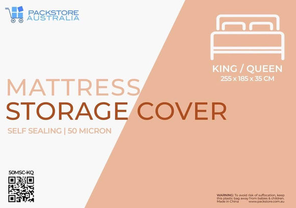 Heavy Duty Mattress Cover for Moving and Storage - King/Queen Mattress Storage Covers Packstore Australia