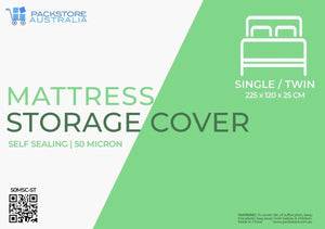 Heavy Duty Mattress Cover for Moving and Storage - Single/Twin Storage Bags and Covers Packstore Australia