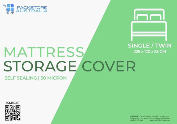 Heavy Duty Mattress Cover for Moving and Storage - Single/Twin Mattress Storage Covers Packstore Australia