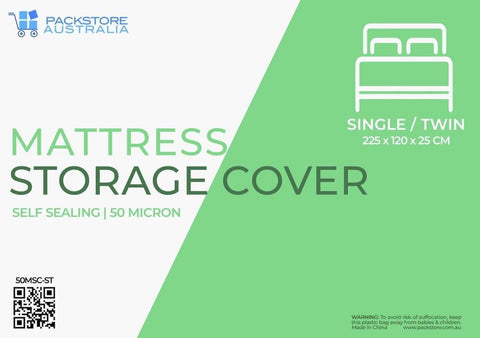 Heavy Duty Mattress Cover for Moving and Storage - Single/Twin - Packstore