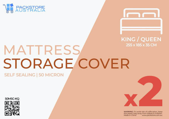 Heavy Duty Mattress Covers King/Queen - 2 PACK Mattress Storage Covers Packstore Australia