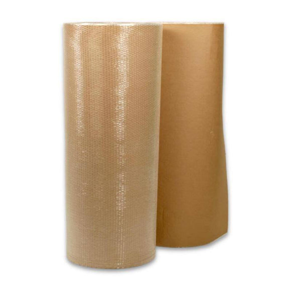 Kraft Paper Bubble Wrap Roll - 1.5m x 50m Bubble Wrap Packstore Australia