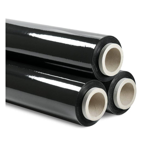 Stretch Film Pallet Wrap 500 mm x 500 m Black - 4 PACK Stretch Wrap and Bundling Film Packstore Australia