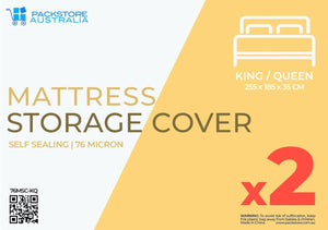Super Heavy Duty Mattress Covers King / Queen - 2 PACK Mattress Storage Covers Packstore Australia