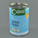 ABSOLUTE ORGANIC CHICK PEAS 400G